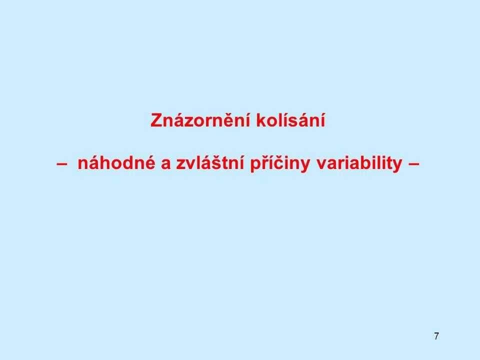 7 Znázornění kolísání – náhodné a zvláštní příčiny variability –