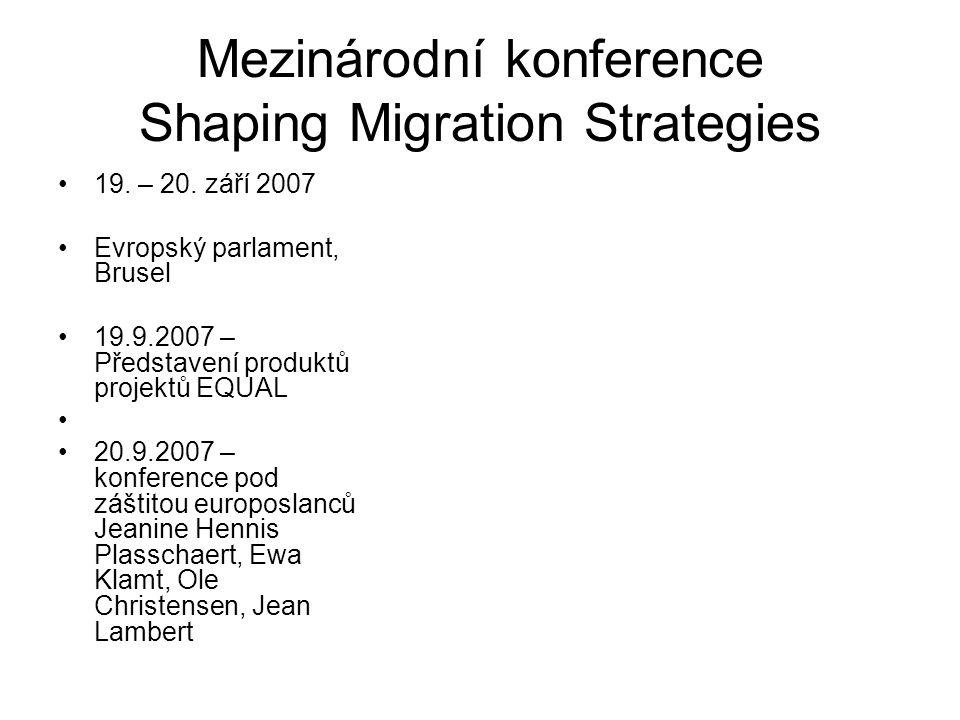 Mezinárodní konference Shaping Migration Strategies 19.