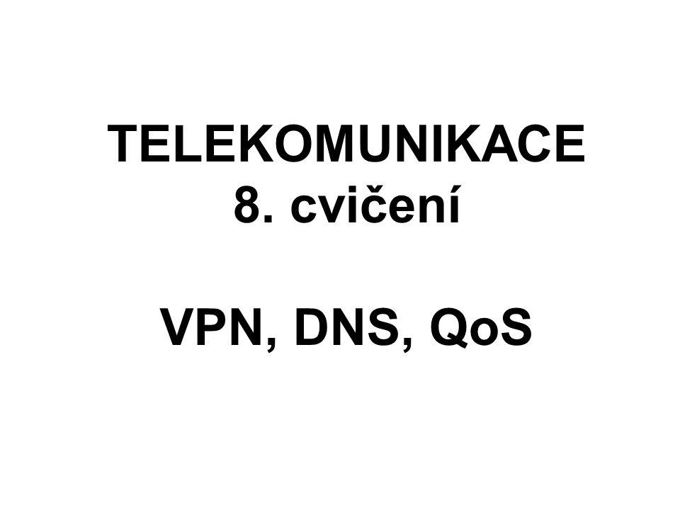 TELEKOMUNIKACE 8. cvičení VPN, DNS, QoS 2012/2013 Martin Šrotýř srotyr@fd.cvut.cz