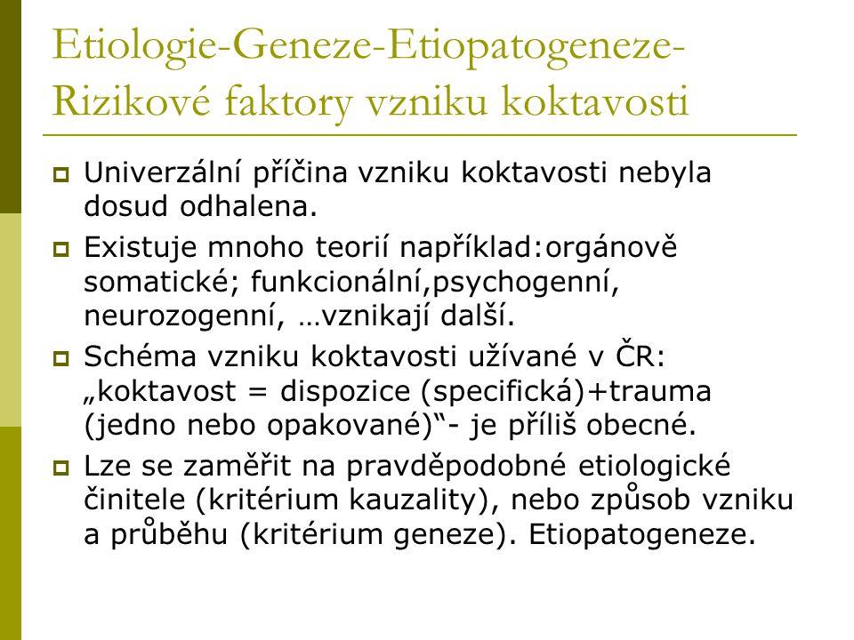 Etiologie-Geneze-Etiopatogeneze- Rizikové faktory vzniku koktavosti  Univerzální příčina vzniku koktavosti nebyla dosud odhalena.  Existuje mnoho te