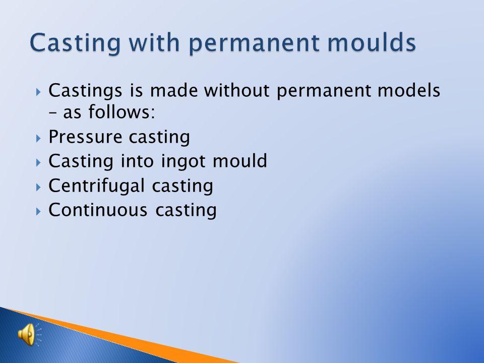 Pressure – flasks casting
