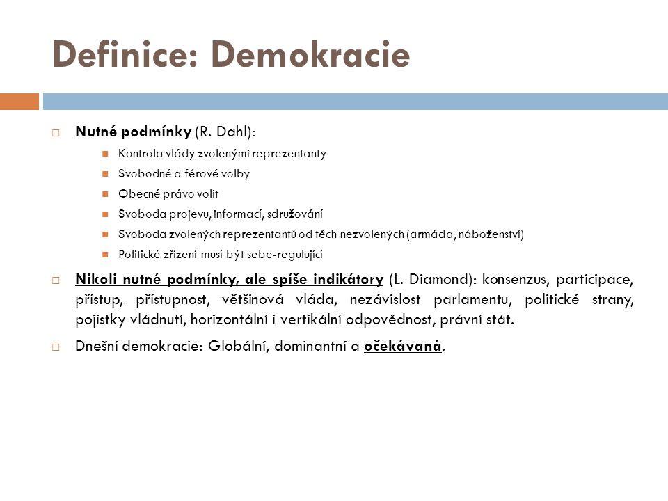 Definice: Demokracie  Nutné podmínky (R.