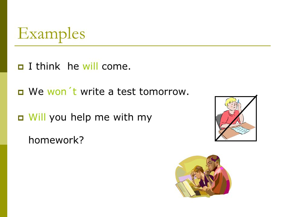 The form of future simple  The same for all the subjects (doesn´t change)  With auxiliary verb will