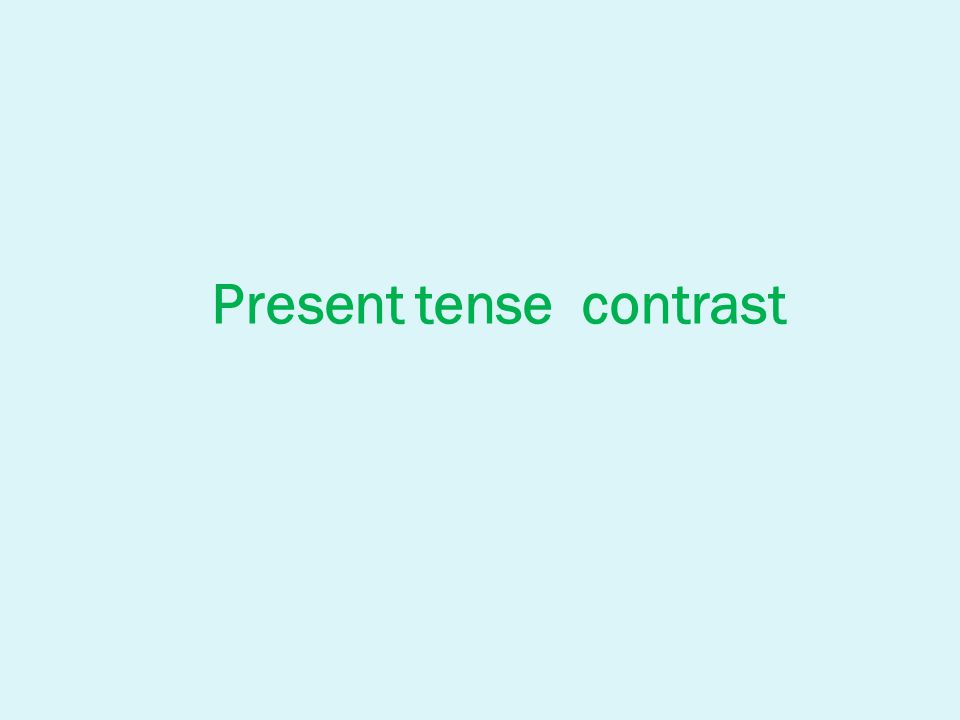 Present Simple - usage: when we speak about situations / states that are true at the present time or usually true (permanent) She works in an office.