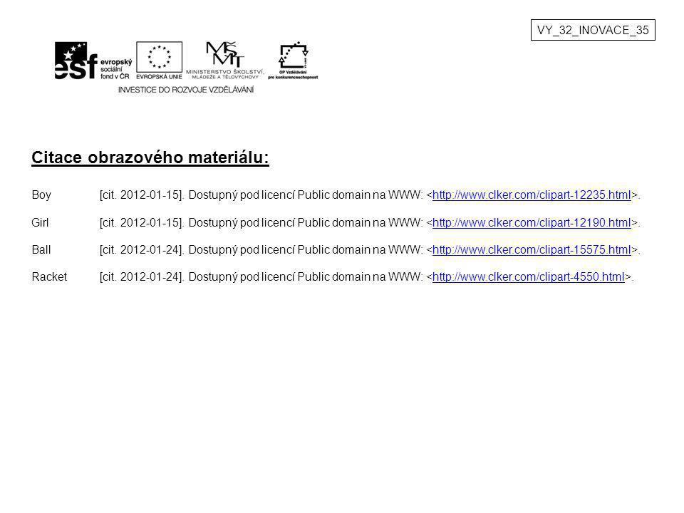VY_32_INOVACE_35 Citace obrazového materiálu: Boy[cit. 2012-01-15]. Dostupný pod licencí Public domain na WWW:.http://www.clker.com/clipart-12235.html
