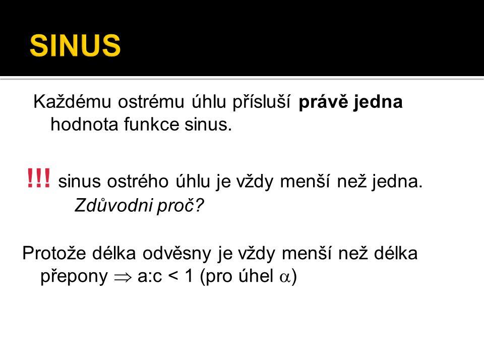 Grafem funkce sinus je sinusoida.