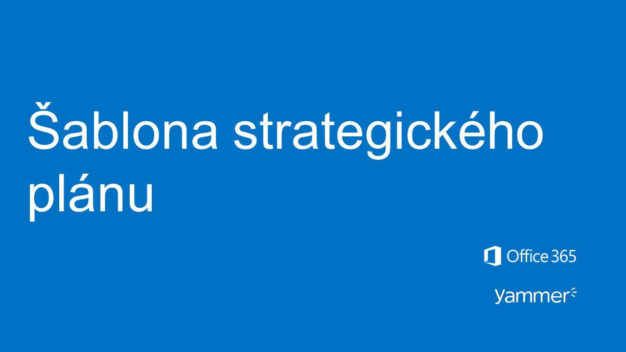 Šablona strategického plánu