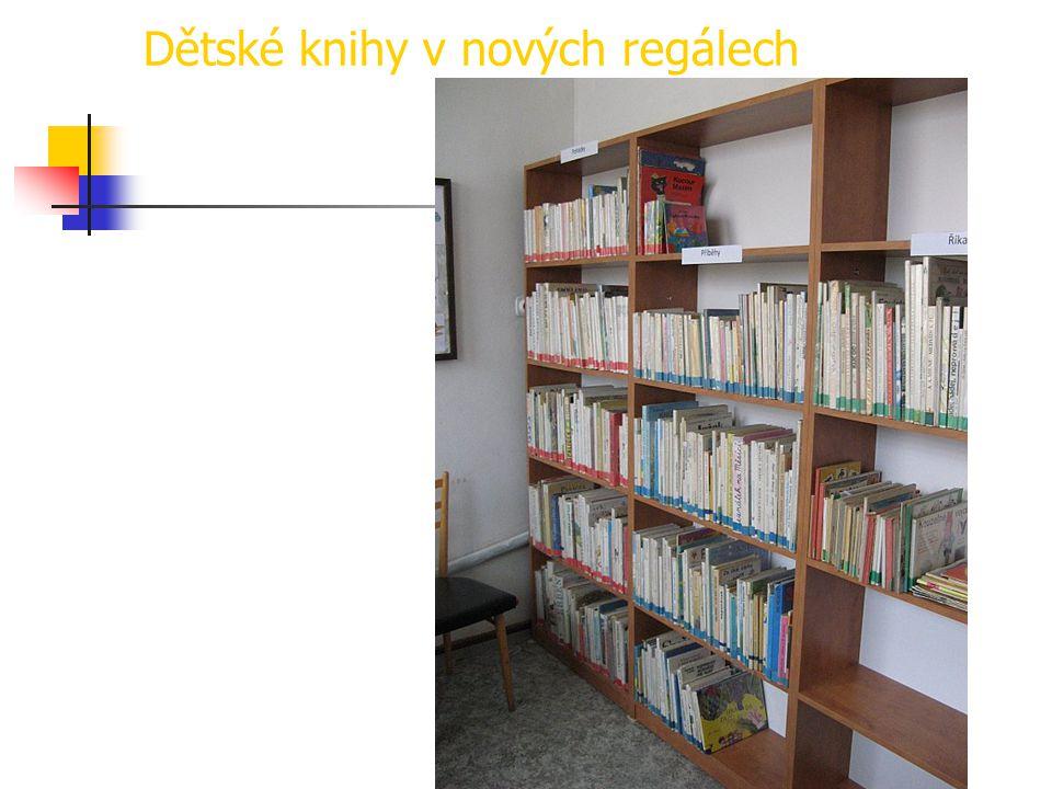 Dětské knihy v nových regálech
