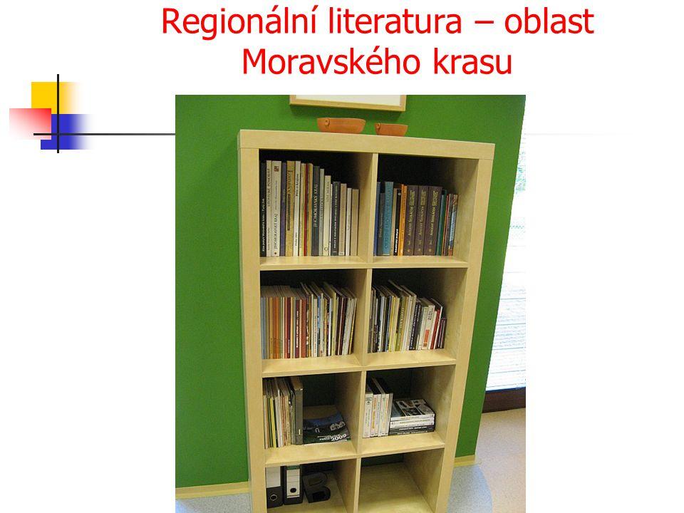 Regionální literatura – oblast Moravského krasu