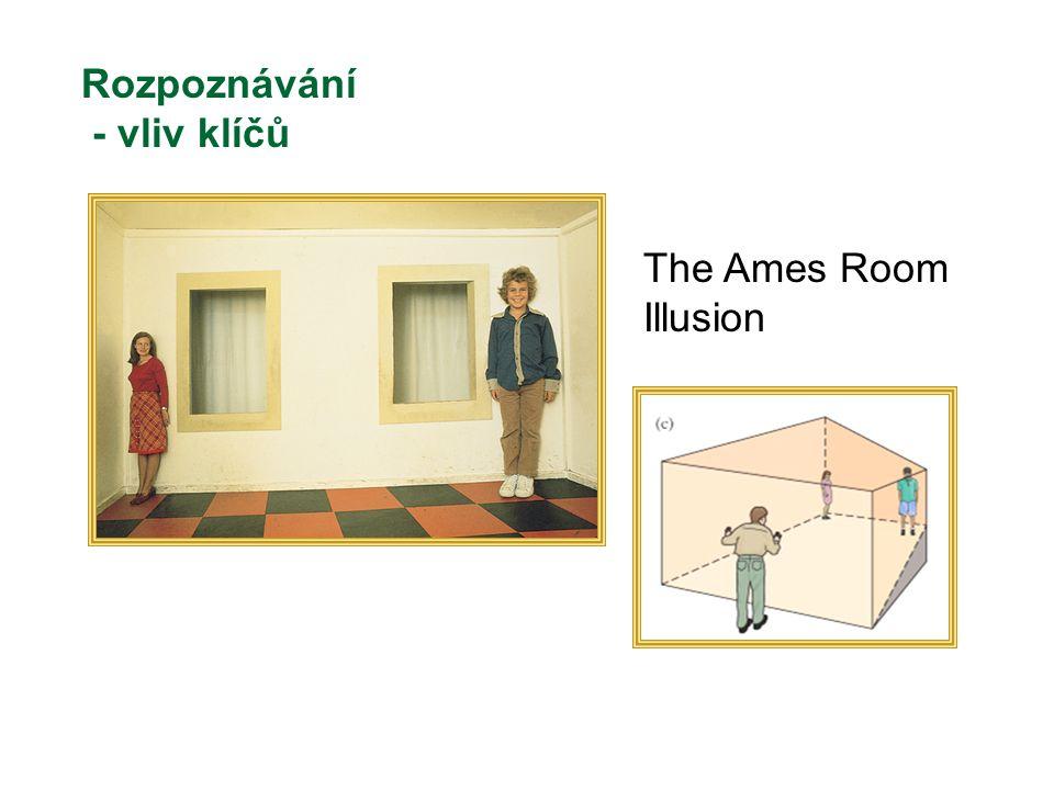The Ames Room Illusion Rozpoznávání - vliv klíčů