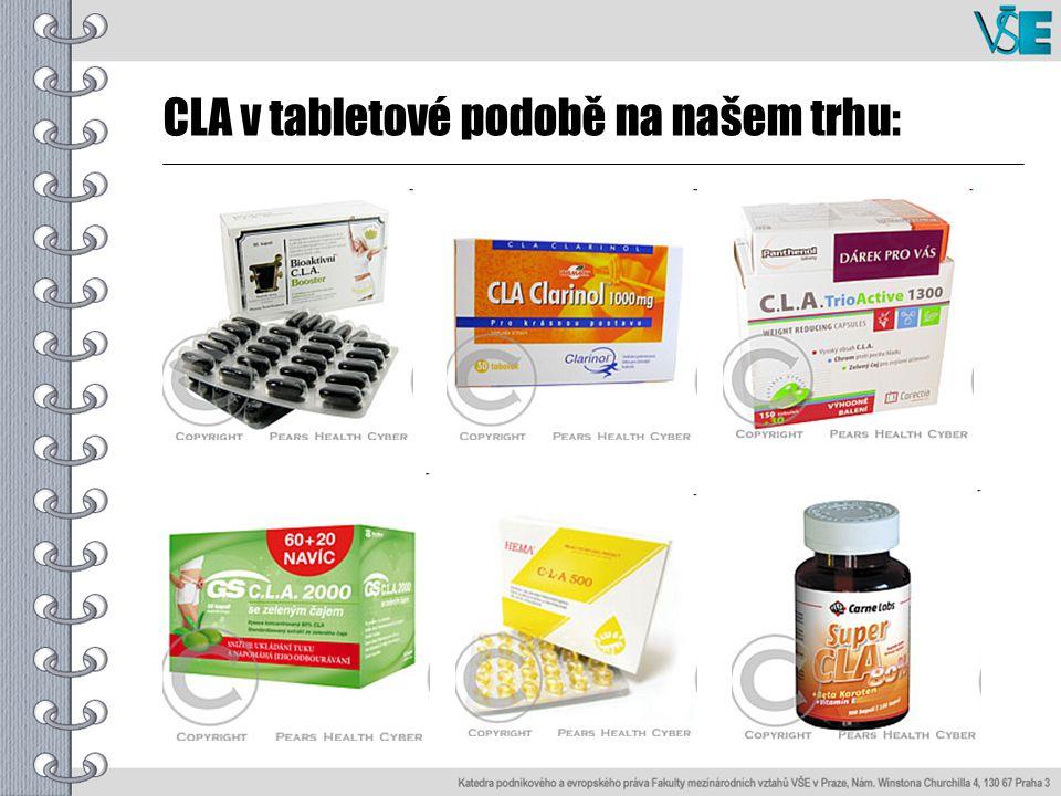 CLA v tabletové podobě na našem trhu: