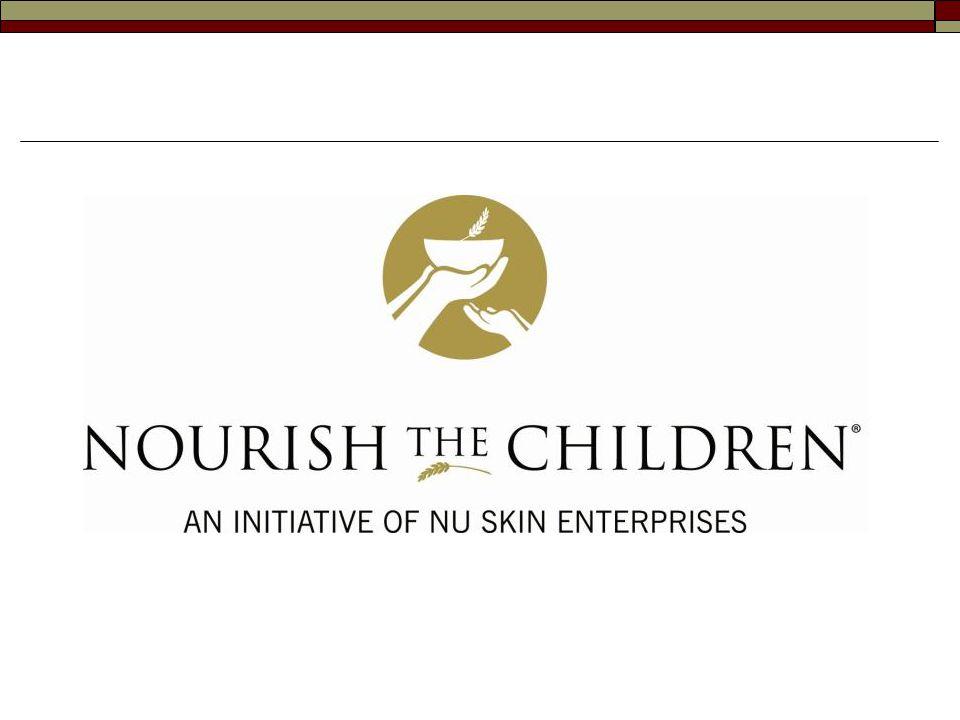 """Poslání Nu Skin ® """"Naším posláním je být sílou konající dobro po celém světě, dávajíce lidem příležitost ke zlepšení svých životů pomocí rentabilních obchodních možností, inovativních produktů a život obohacující a povznášející kultury. Iniciativa Nourish the Children ® (NTC) spojuje Nu Skin ® s rozsáhlou celosvětovou silou distributorů při výživě hladových dětí na celém světě."""