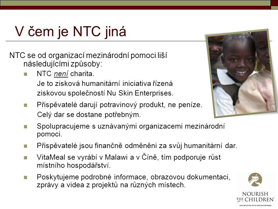 V čem je NTC jiná NTC se od organizací mezinárodní pomoci liší následujícími způsoby: NTC není charita. Je to zisková humanitární iniciativa řízená zi