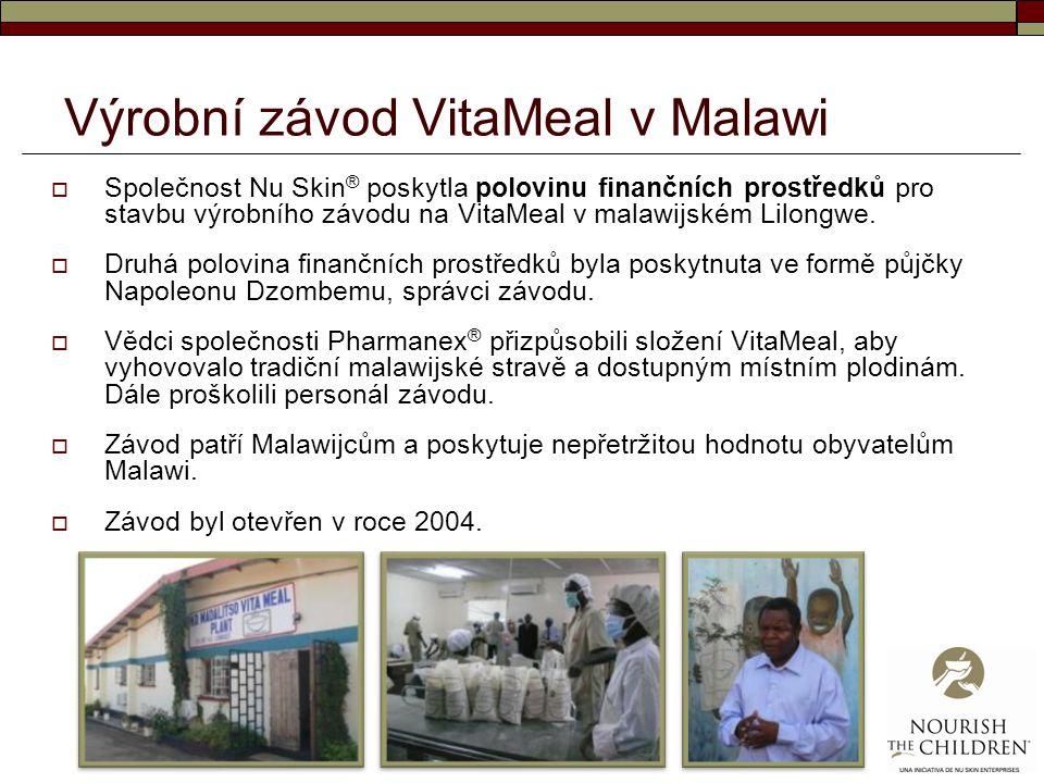 Výrobní závod VitaMeal v Malawi  Společnost Nu Skin ® poskytla polovinu finančních prostředků pro stavbu výrobního závodu na VitaMeal v malawijském L