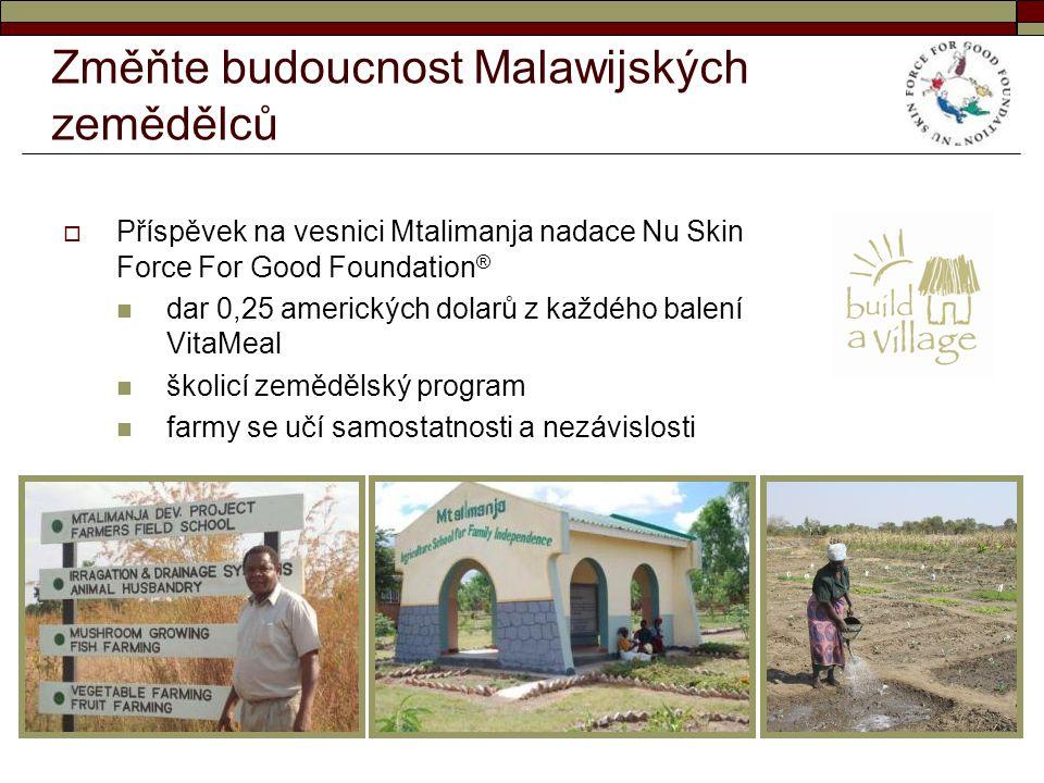 Změňte budoucnost Malawijských zemědělců  Příspěvek na vesnici Mtalimanja nadace Nu Skin Force For Good Foundation ® dar 0,25 amerických dolarů z kaž