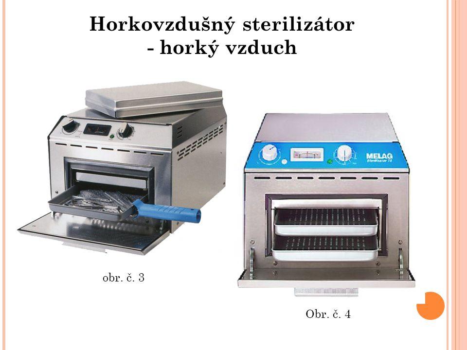 Horkovzdušný sterilizátor - horký vzduch Obr. č. 4 obr. č. 3