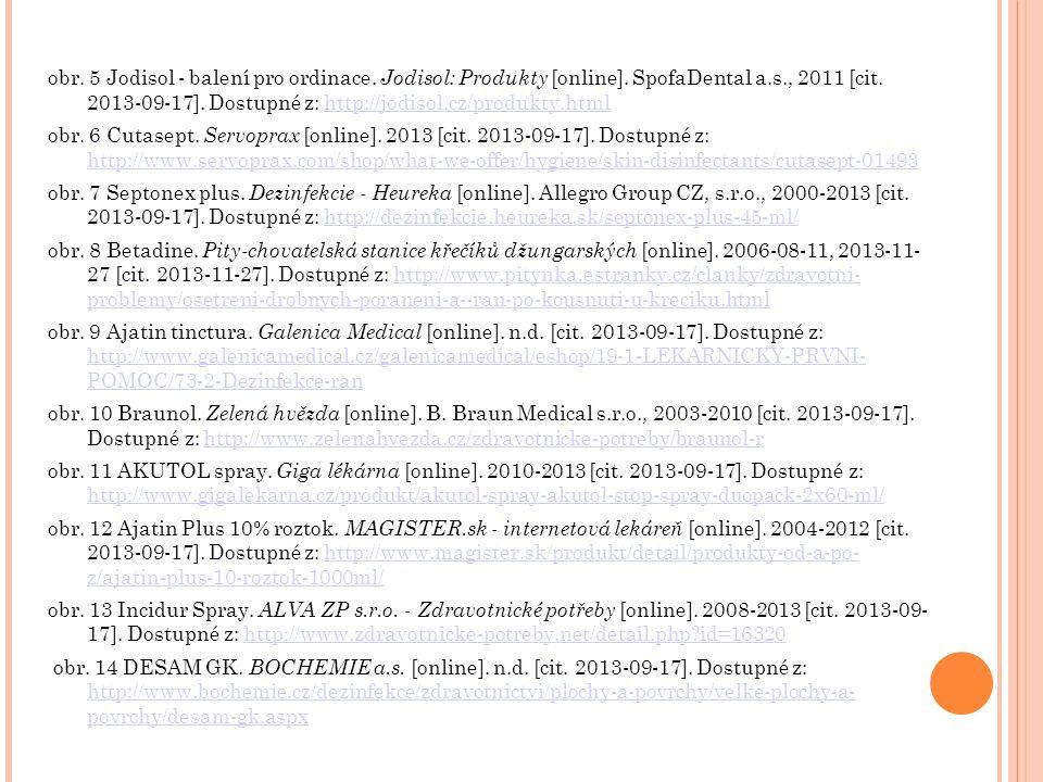 obr. 5 Jodisol - balení pro ordinace. Jodisol: Produkty [online]. SpofaDental a.s., 2011 [cit. 2013-09-17]. Dostupné z: http://jodisol.cz/produkty.htm