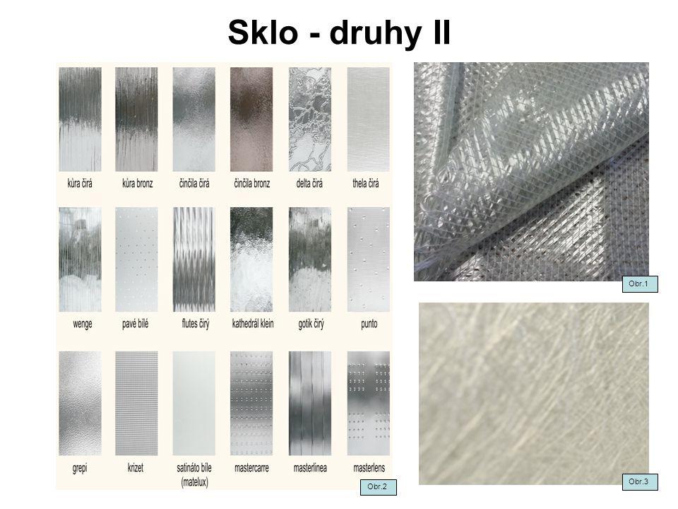 Sklo - výroba Sklo je tavená směs z několika druhů surovin.
