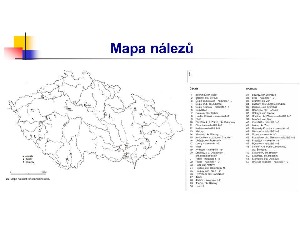 Mapa nálezů