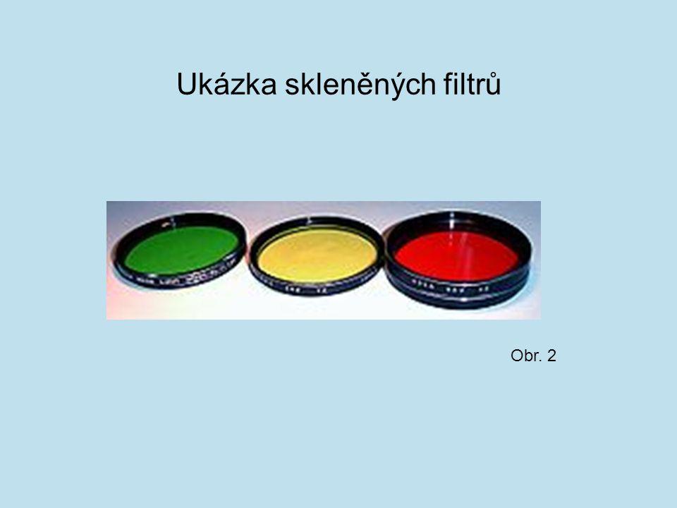 Ukázka skleněných filtrů Obr. 2