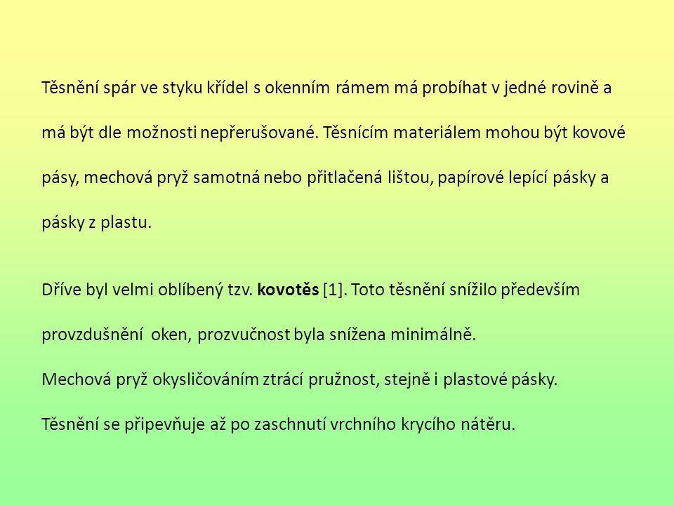 Obr. 5 Dorazové gumové těsnění pro eurookna Obr. 4 Vtlačovací plastové těsnění 8 5