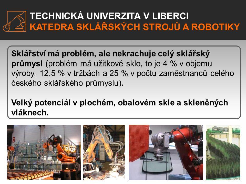 TECHNICKÁ UNIVERZITA V LIBERCI KATEDRA SKLÁŘSKÝCH STROJŮ A ROBOTIKY EXKURZE.