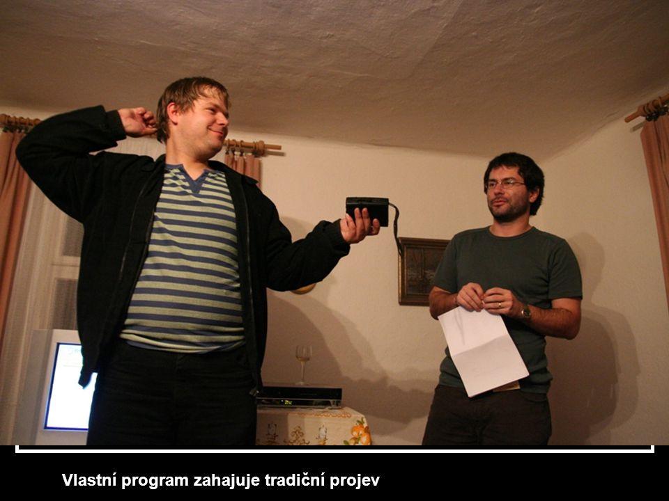Vlastní program zahajuje tradiční projev