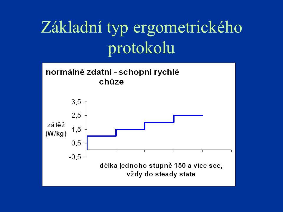 Základní typ ergometrického protokolu