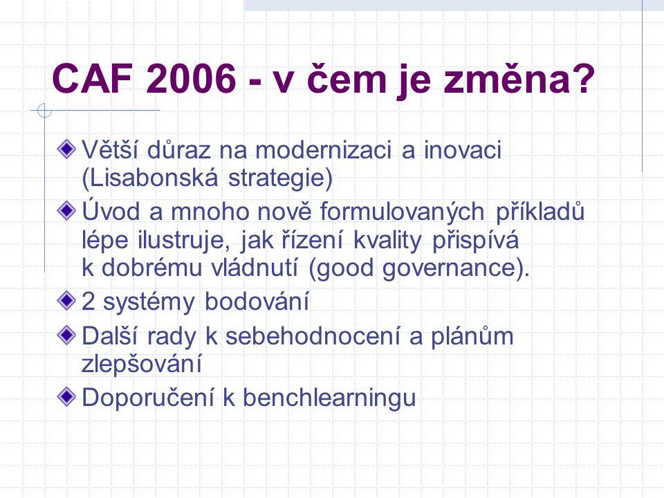 CAF 2006 - v čem je změna.