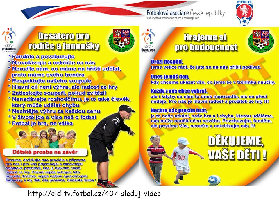 Filosofie výchovy organizace fotbalu Cíl: vychovávat s míčem dovedné, odvážné a tvořivé hráče + další atributy českého fotbalu (zodpovědnost, týmovost…) s trenéry podporujícími HRU.