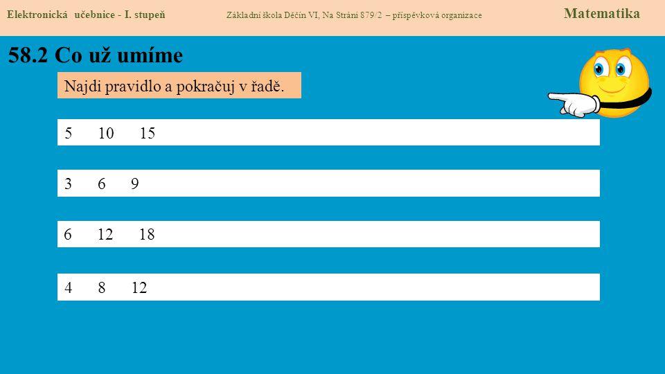58.2 Co už umíme Elektronická učebnice - I.