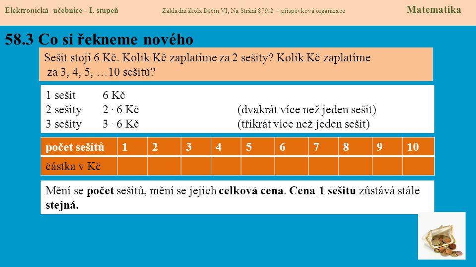 58.3 Co si řekneme nového Elektronická učebnice - I.