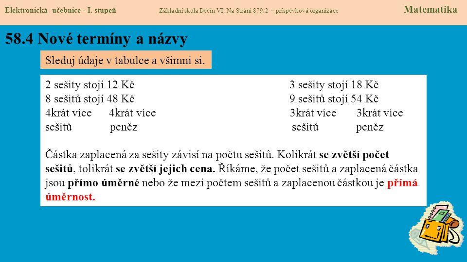 58.4 Nové termíny a názvy Elektronická učebnice - I.