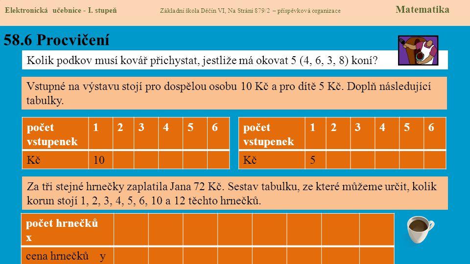 58.6 Procvičení Elektronická učebnice - I.