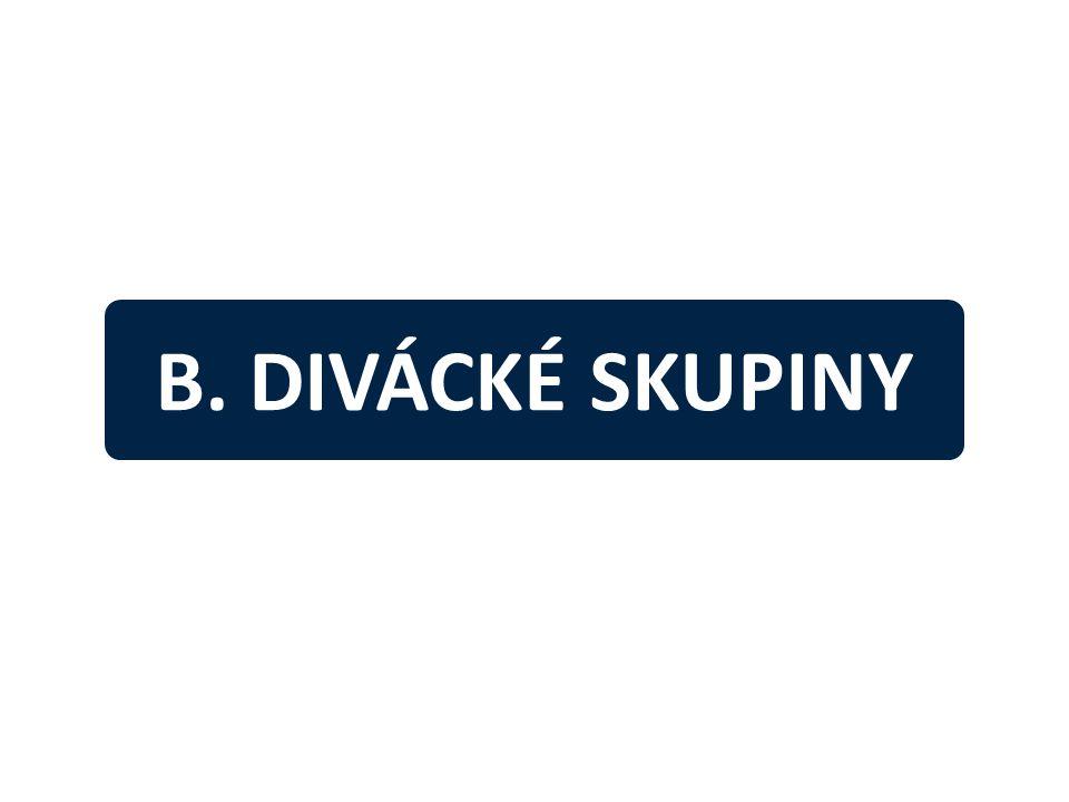 B. DIVÁCKÉ SKUPINY
