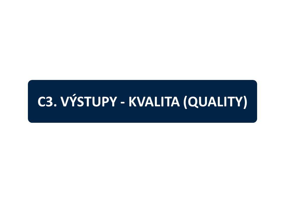 C3. VÝSTUPY - KVALITA (QUALITY)