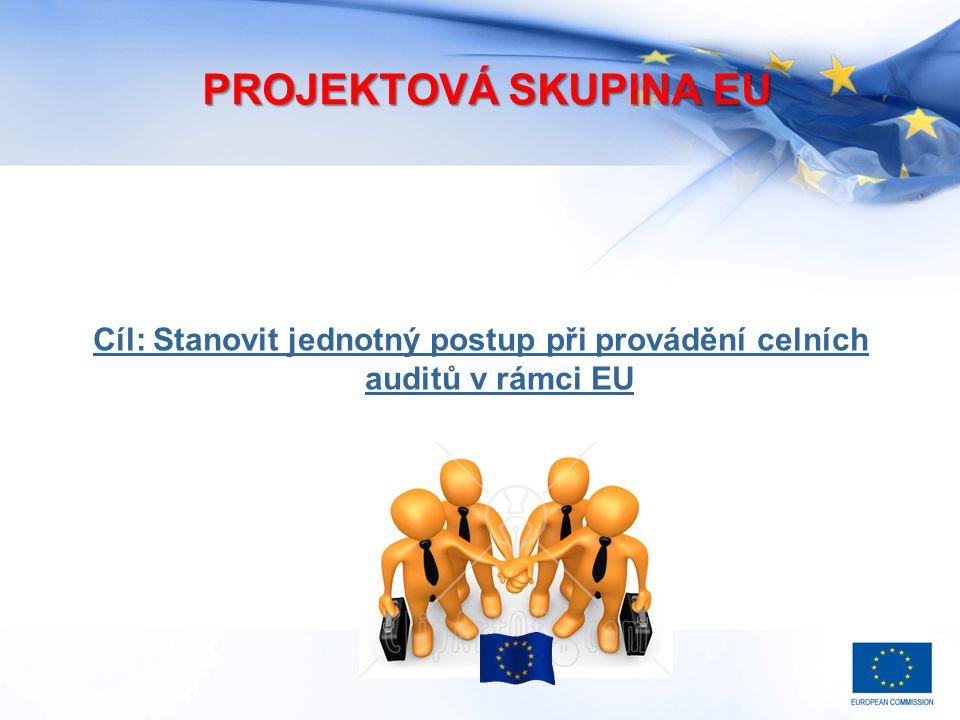 PROJEKTOVÁ SKUPINA EU Cíl: Stanovit jednotný postup při provádění celních auditů v rámci EU