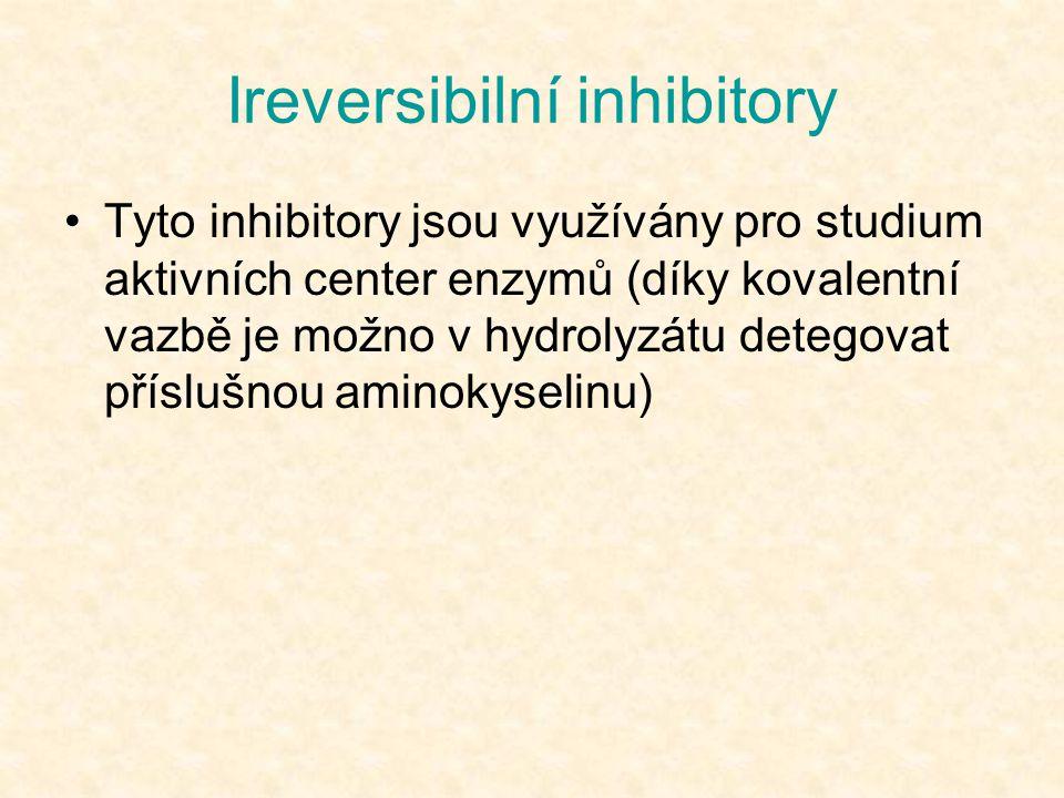 Tyto inhibitory jsou využívány pro studium aktivních center enzymů (díky kovalentní vazbě je možno v hydrolyzátu detegovat příslušnou aminokyselinu)