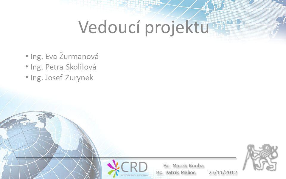 Vedoucí projektu Ing. Eva Žurmanová Ing. Petra Skolilová Ing. Josef Zurynek