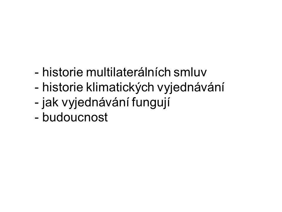 Historie environmentálních multilaterálních smluv I.