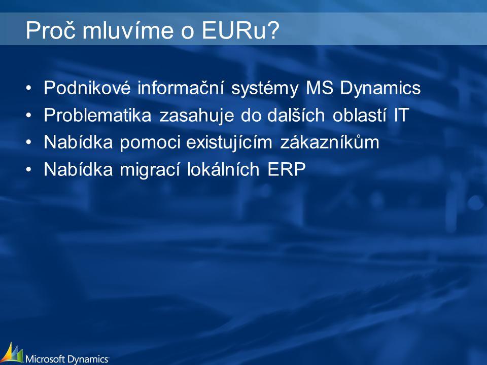 Proč mluvíme o EURu.