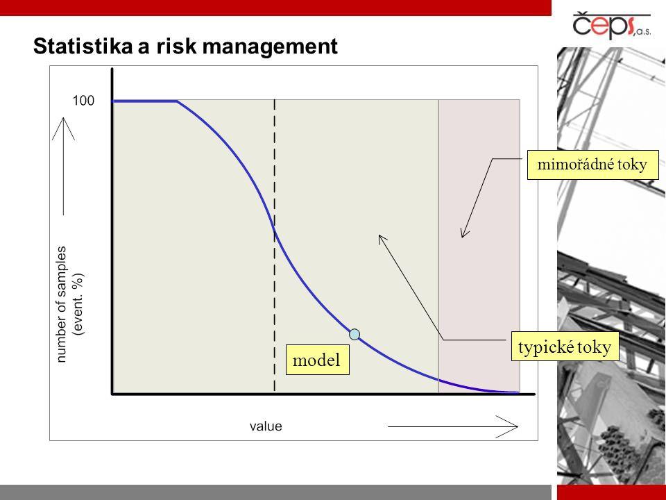 Statistika a risk management typické toky mimořádné toky model