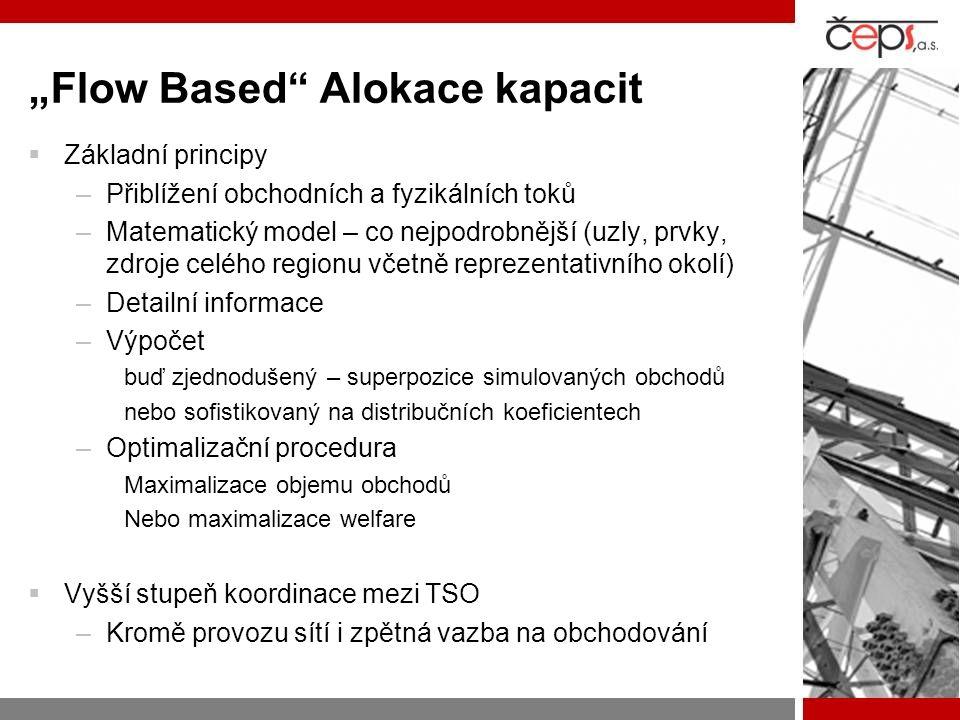 """""""Flow Based"""" Alokace kapacit  Základní principy –Přiblížení obchodních a fyzikálních toků –Matematický model – co nejpodrobnější (uzly, prvky, zdroje"""