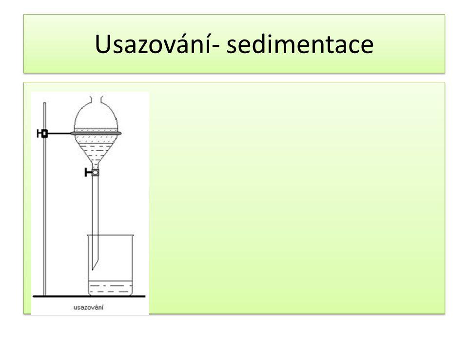 Usazování- sedimentace