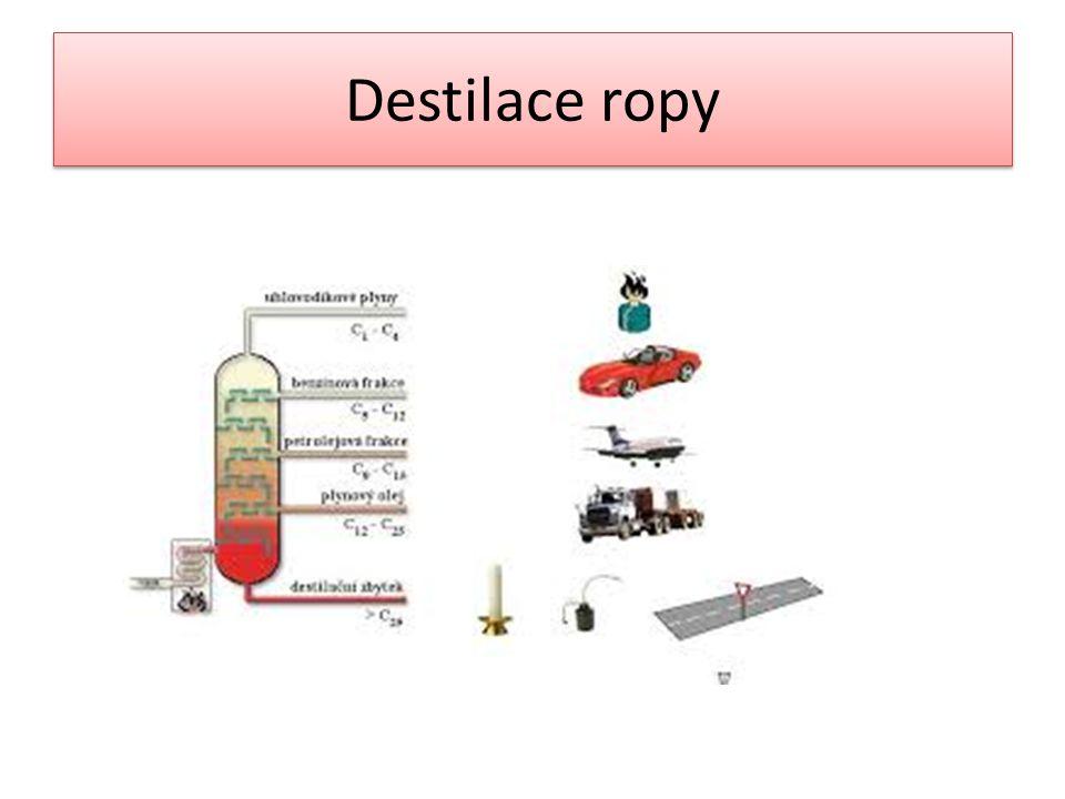 Destilace ropy