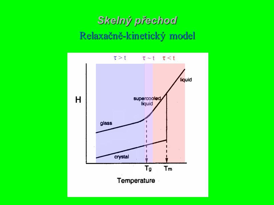 Skelný přechod Relaxačně-kinetický model τ < t τ > t τ ~ t