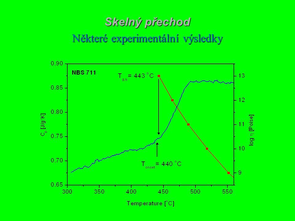 Skelný přechod Některé experimentální výsledky Se viscosity A. Tverjanovich, J. Non-Cryst. Solids 298 (2002) 226. log
