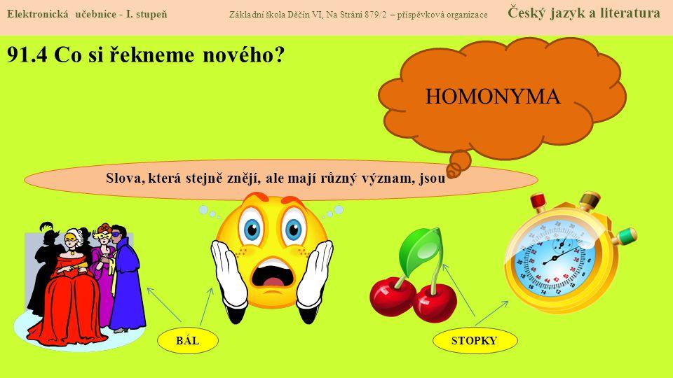 91.5 Procvičení Elektronická učebnice - I.