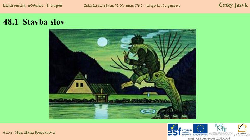 48.1 Stavba slov Elektronická učebnice - I.