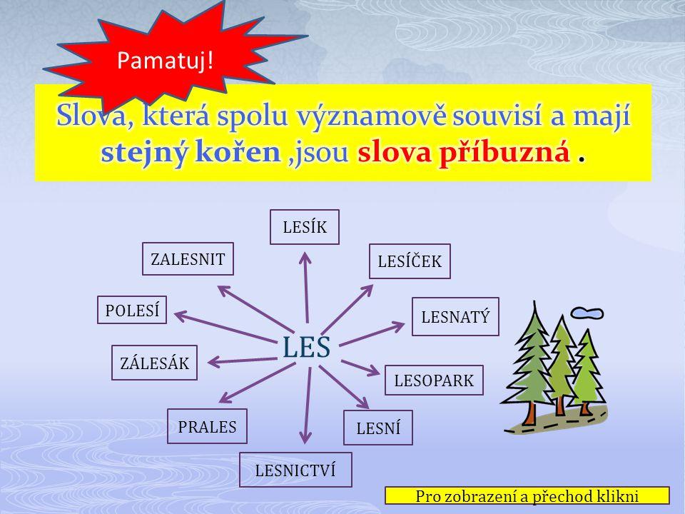 Předpona - kořen - přípona slovo pod - chod nad - chod od - chod pře - chod - it do - chod - it Nezapomeň! podchod nadchod odchod přechodit dochodit P